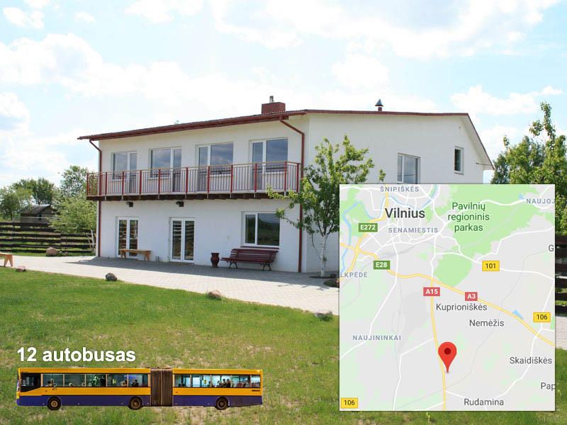 Sodyba prie Vilniaus žemėlapis
